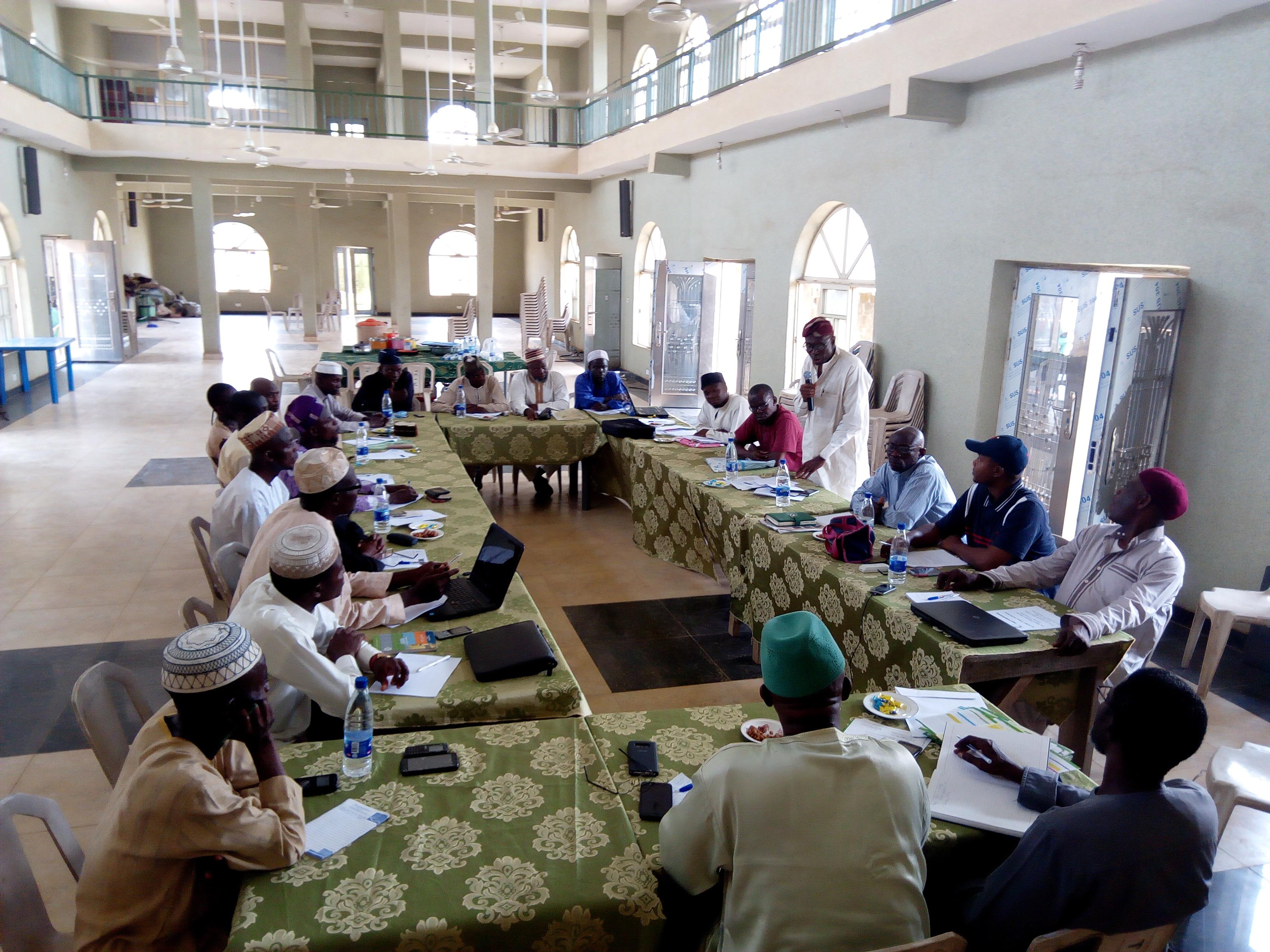 National Workshop for the Usrah Cordinators across all the Distrctics of The Companion in Nigeria, at Multi-Purpose Islamic Center, TCIU