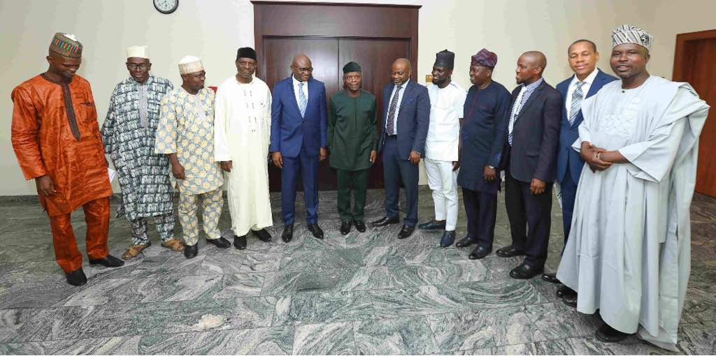 The National Executive Committee led by National Amir of The Companion, Mr Wale Shonaike on a visit to the Office of The Vice President, Prof. Yomi Osinbajo